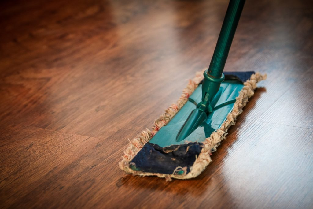Mop on hard wood floor