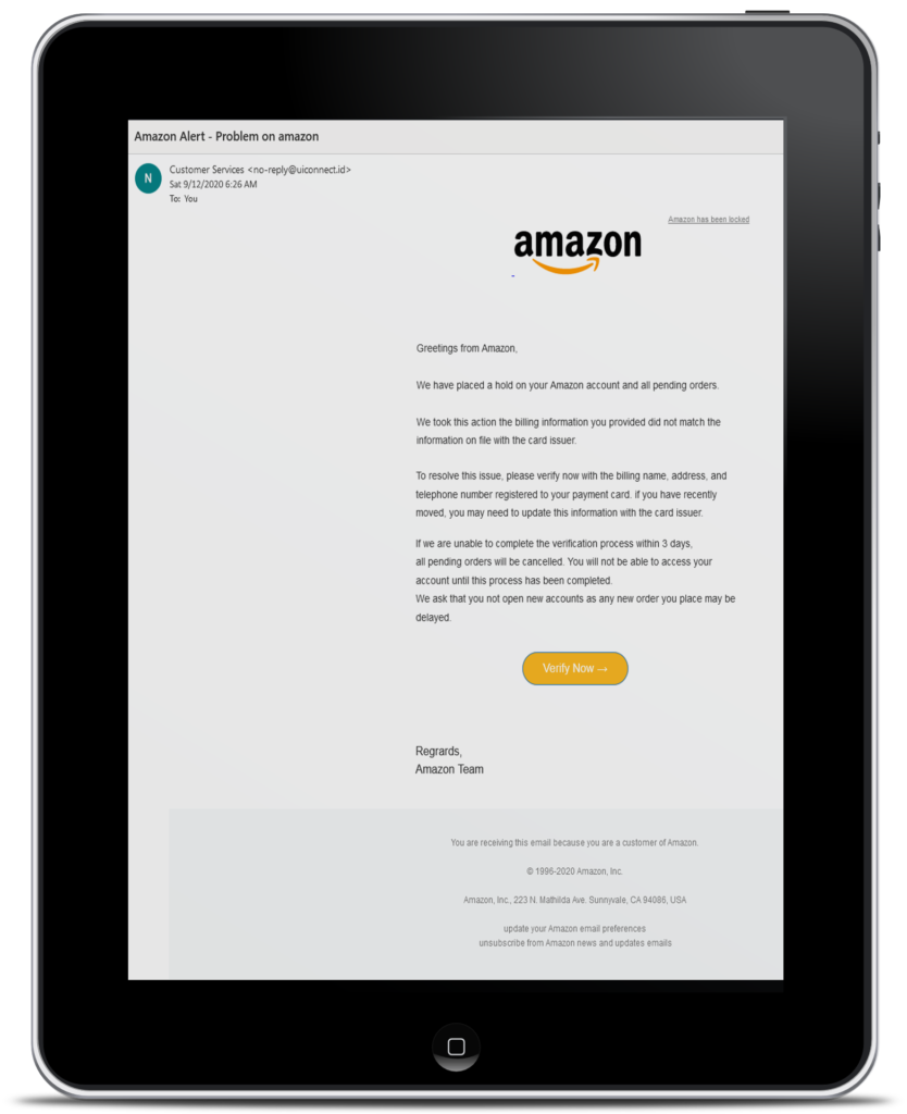 Amazon letter tablet
