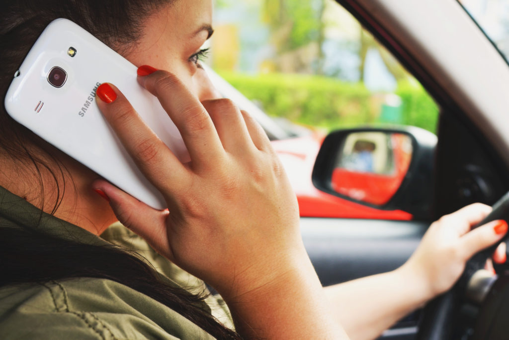 Talking on the phone and driving
